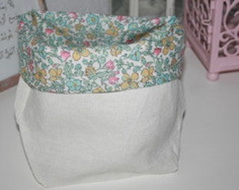 Empty Pocket linen and liberty Meadow Pastel