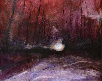 Red Path - limited edition Giclee print