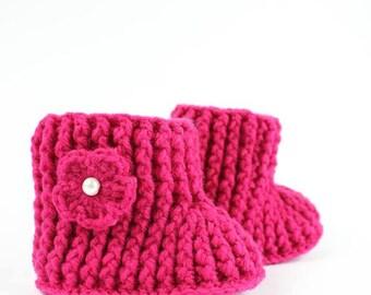 Crochet baby boots / booties crocheted baby
