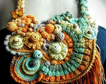 Crochet necklace 'Butterfly'| For Her | Gift idea | Ornament | Necklace
