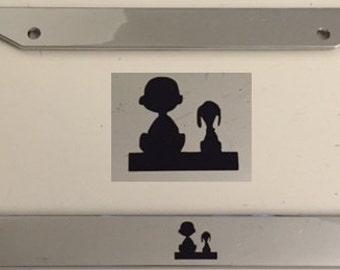 Boy and Dog - Man's Best Friend Automotive Chrome License Plate Frame -