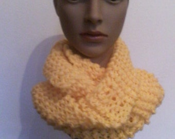 Ladies scarf handmade yellow
