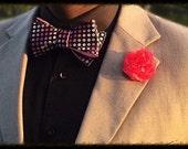 Flower Lapel pin, hot pink lapel pin, Man's boutonniere, suit lapel pin, man lapel pin,wedding boutonniere, gift, wedding lapel pin,flower l