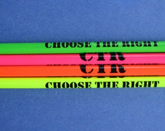 """Ten 2017 """"Choose the Right"""" PENCILS (10) LDS Primary"""
