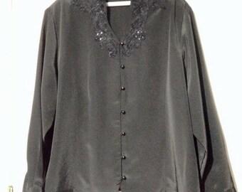 Vintage plus black blouse