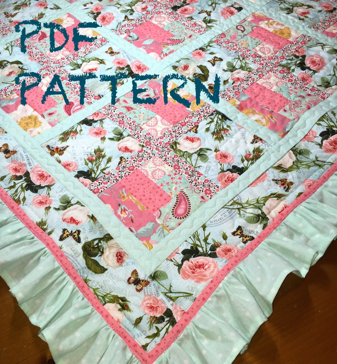 Ruffle Baby Girl Quilt Pattern Ruffle Quilt Pattern Baby