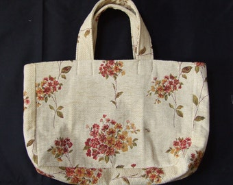 Strong All Purpose Bag in Heavy Duty Embroidered Fabric with Cotton Lining