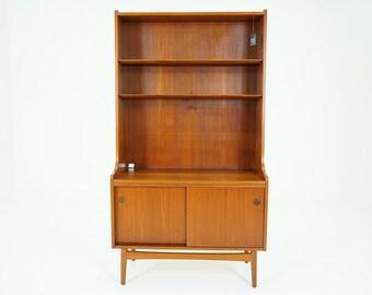 307-149 SALE! Danish Mid Century Modern Teak Office Bookcase Bookshelf Shelf