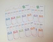 Mason Jar Stickers for Erin Condren,Happy Planner sticker,Plum Planner Stickers,Filofax Sticker,Planner Sticker