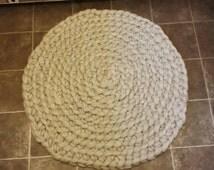 Handmade Chunky Floor Rug, Crochet Rug, Large Floor Rug, Crochet Round Rug, Round Rug, Wool Rug, Chunky Wool Rug