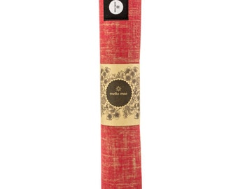 Eco-conscious, jute yoga mat by Mello Mae - Grapefruit (Red, Gold)