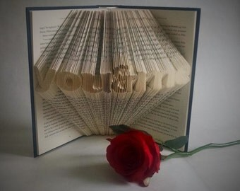 Book Lover Gift For Anniversary, Book Art Featuring the Words You & Me