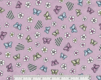 Butterflies on Lavender - Per Yd - Quilting Treasures
