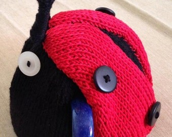 Knitted Ladybird teapot cosy
