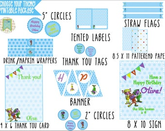 Your Theme Party Printable Package