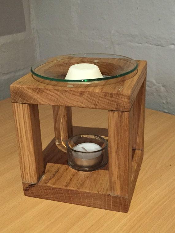 Melts And Warmer ~ Reclaimed oak wax melt warmer burner