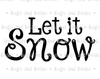 Let it snow SVG and DXF files