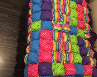Bubble/puff quilt minky blanket