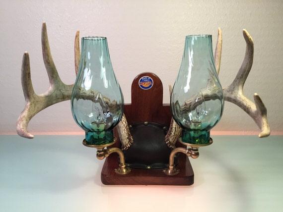 Rustic Lighting Deer Antler Light Rustic Deer Horn Lamp
