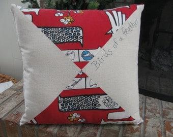 Red Bird Pillow