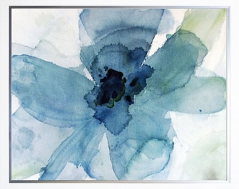 Big Blue watercolor