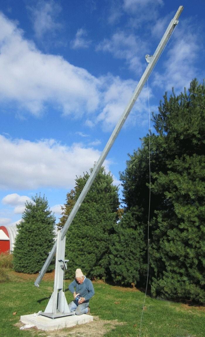 Build A 2550 Free Standing Tilt Then Crank Up Tower Wind