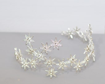 Wedding Tiara, Stars Tiara, Swarovski Crystal Tiara, Royal Bridal Tiara, Rhinestone Tiara, Stars Wedding Crown, Wedding Head piece, Ref STAR