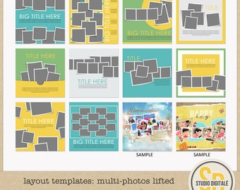 Layout Templates: Multi-Photos Lifted
