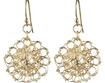Crocheted Delicate Hints 14k Gold-filled Earrings - Item #E106-GFP