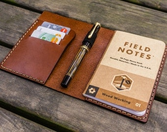 No.55 Personalized Leather Field Notes , Moleskine Cahier Cover