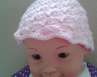 Baby Hat, 3-6 months Pink