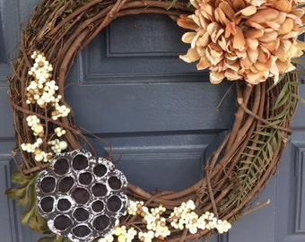 Fall Wreath // Wreath // Fall Decor // Natural Wreath // Spring Wreath