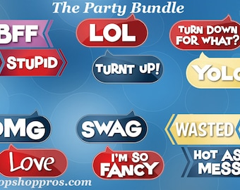 BEST SELLER Party Props | Party Signs | Photo Booth Props | Prop Signs | The Party Bundle