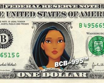 POCOHANTUS Princess - Real Dollar Bill Disney Cash Money Collectible Memorabilia