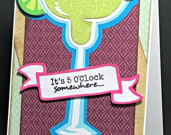 Cricut Mixed Drink Handmade Card