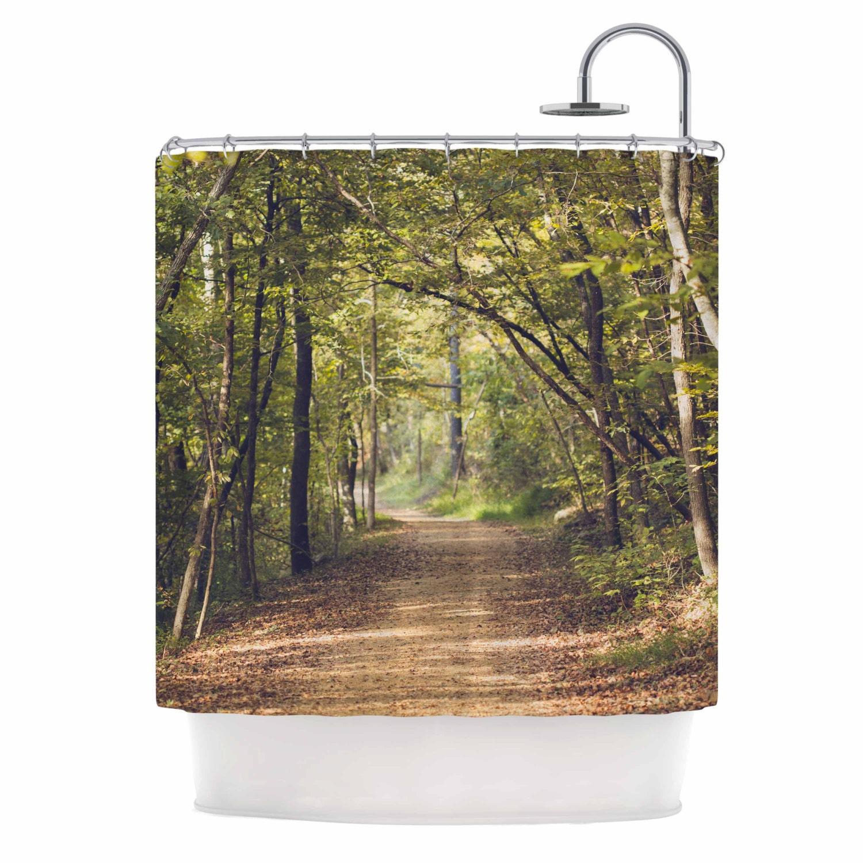 Forest Shower Curtain Forest Path Wilderness Forest Light