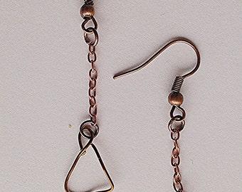 Handmade Earrings, handmade Jewelry, Geometricl Earrings, Geometrical Jewelry