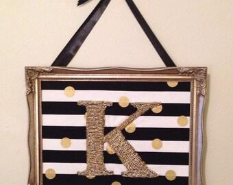Gold and Black Monogram K