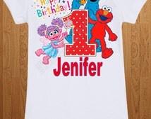 Elmo & Abby Cadabby Birthday Shirt