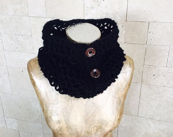 Black Scarf - New Infinity Scarf - Infinity Scarf - Knitted Scarf - Circle Scarf - Scarves - Winter Accessories