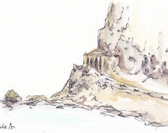 Scilla original watercolor sketch