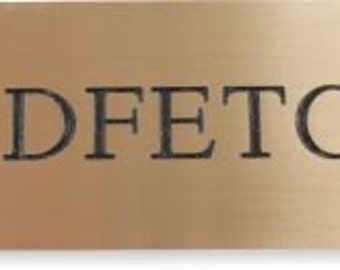Stable Name Plate 200mm x 50mm