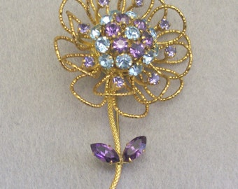 Exquisite AUSTRIA RHINESTONE FLOWER Brooch