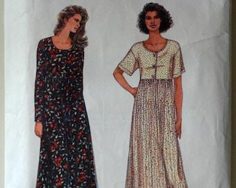 1990s Simplicity Vintage Sewing Pattern 9280; Size XS, S, M; Misses' Dress