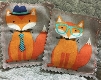 Fox catnip pillow