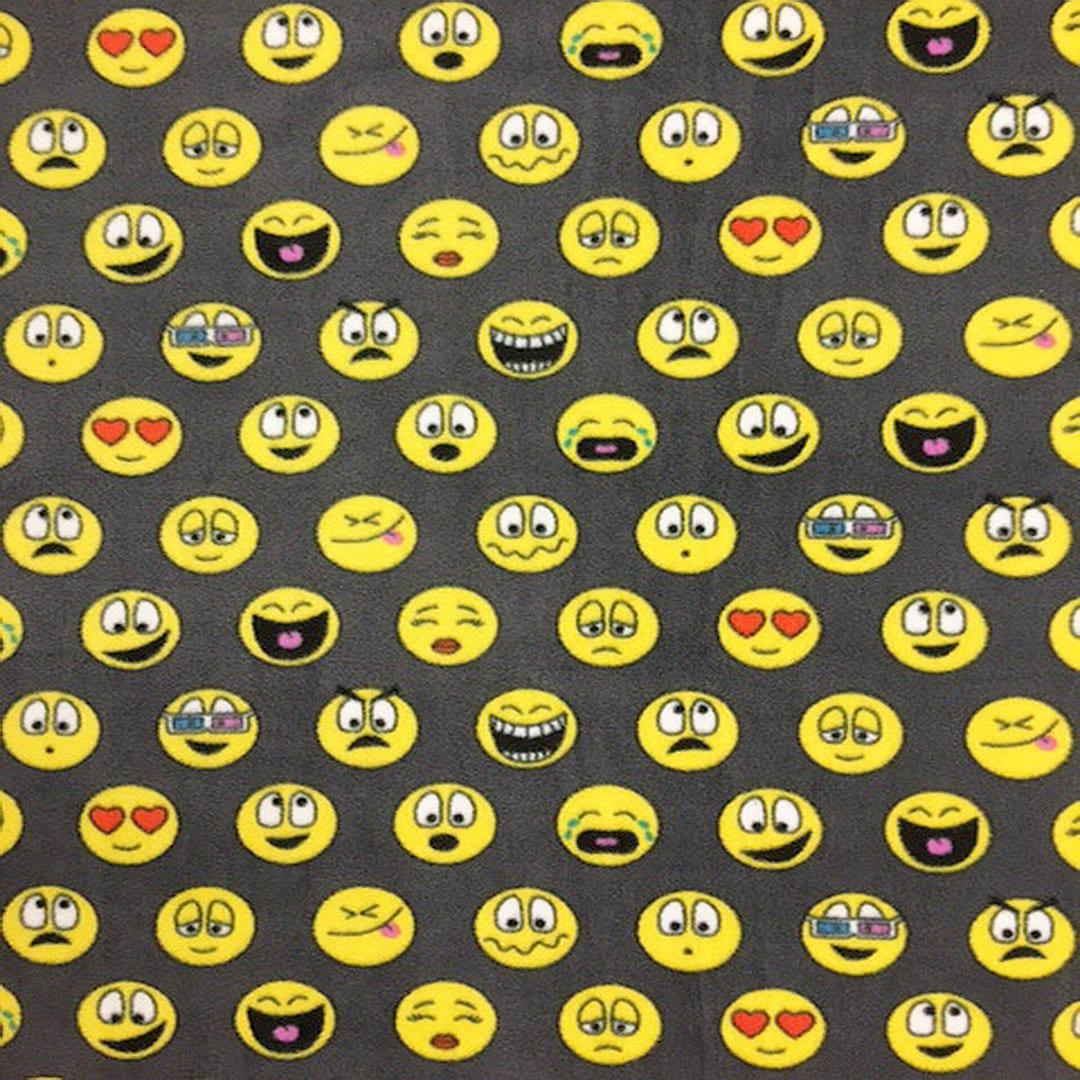Fleece fabric emoticons emoji style 40912 60 by for Emoji fabric