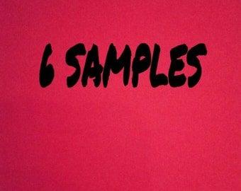 Pick 6 samples