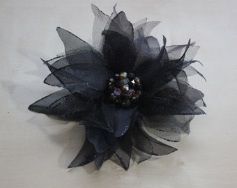 Large Fabric Flower Pin Brooch Corsage