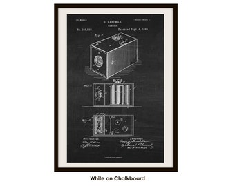 Camera Patent Printed on Poster Paper (Not Framed)