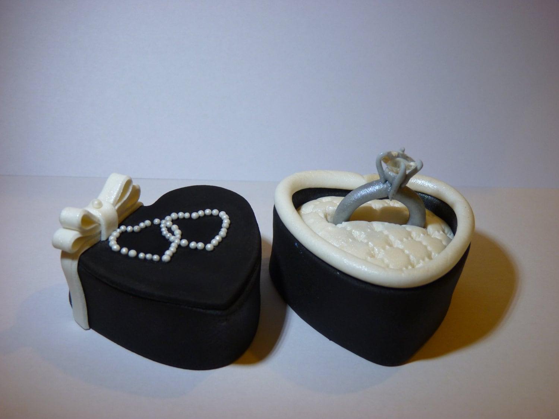 Diamond Engagement Ring Cake Topper